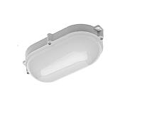 LED cветильник LUXIA-OW LED, 10W, PC/PC, 700lm, IP65, AC220-240V, 50/60Hz, 220*, ОВАЛЬНЫЙ,  4000K, белый