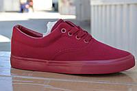 Женские кеды vans бордовые, копия, фото 1