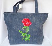 Джинсовая сумка для пляжа и прогулок