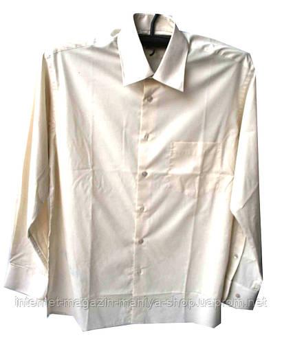 Рубашка мужская однотонная