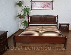"""Кровать деревянная из серии """"Афина"""" (200*200см.), массив - сосна, ольха, береза, дуб., фото 2"""
