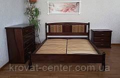 """Деревянная двуспальная кровать с мягким изголовьем """"Афина - 2"""", фото 2"""