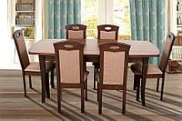 Стол обеденный гостиная/кухня деревянный Квартет 1800(+500)х900х750 (орех темный)