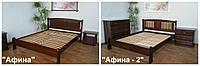 """Кровати двуспальные из серии """"Афина"""". Массив - сосна, ольха, дуб."""