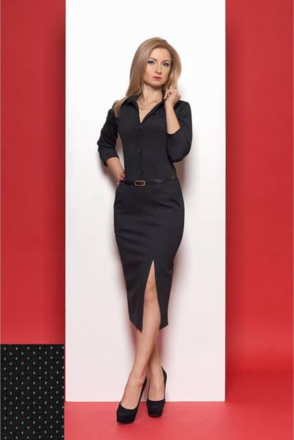 Женское платье SL № 973 чёрный с мятным