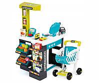 Игровой набор «Smoby» (350206) интерактивный супермаркет с тележкой, продуктами и аксессуарами, 41 предмет