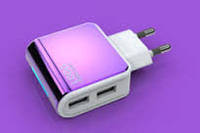 ES-D09 Адаптер на 2 USB 220V