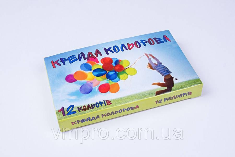 Мел цветной асфальтный 12 цветов/упаковка, мелки детские цветные
