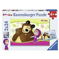 """Пазл-2х24 """"Маша и медведь"""", Ravensburger"""