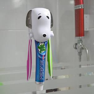 Держатель зубных щеток и пасты Собачка, фото 2