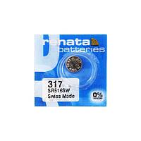 Часовая батарейка Renata 317 / SR 516 SW (1шт.), фото 1