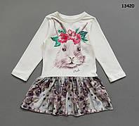 """Платье """"Кролик"""" для девочки. 92, 98, 104 см, фото 1"""