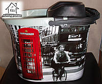 Ведро с отжимом Elif Plastik с рисунком Лондон
