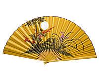 Бамбуковый веер с рисунком на стену