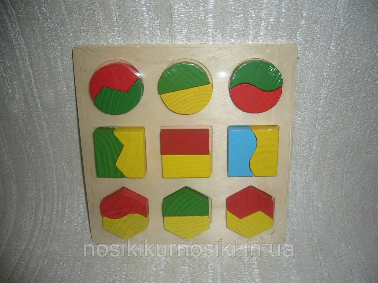 Деревянная игрушка Геометрика - половинки