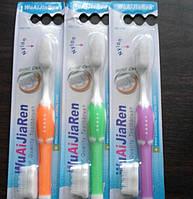 Силиконовые зубная щетка Нано с запаской