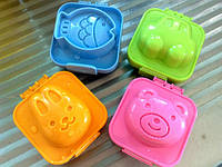 Формочки для вареных яиц или желе 2шт (мишка + зайчик)