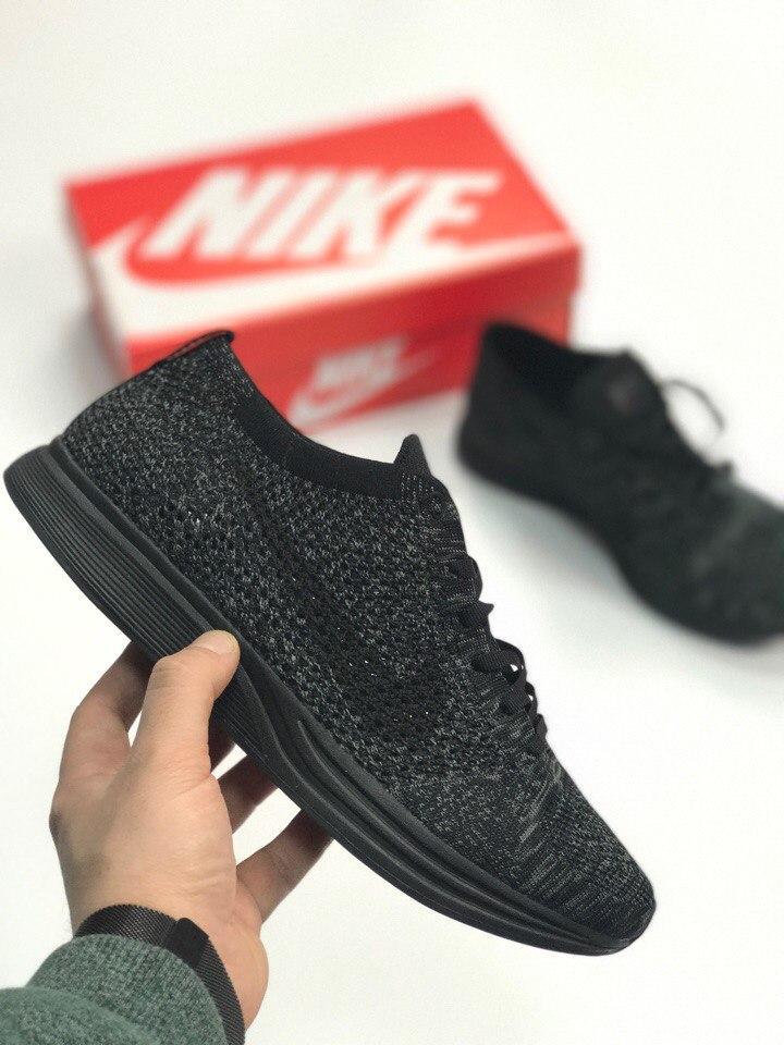 Мужские кроссовки Nike Racer Flyknit Black. Живое фото. Топ качество! (Реплика ААА+)