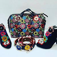 Яркий набор сумка, обувь цветочный принт