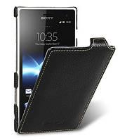 Кожаный чехол Melkco для Sony Xperia Acro S LT26w черный, фото 1