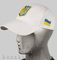 Бейсболка з українською символікою (біла), фото 1