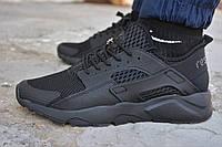 Мужские кроссовки Nike air Huarache black кроссовки найк эир аир хуарачи