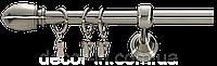Карниз кованный  (комплект) 2.4 м одинарный, диаметр 19 мм, фото 1