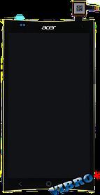 Дисплей (экран) Acer E700 Liquid with touch screen (с тачскрином в сборе), black (черный)