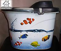 Ведро с отжимом Elif Plastik с рисунком Рыбы
