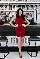 Классическое женское мини платье. Материал костюмная ткань. Размеры 42-46. Розница, опт в Украине.