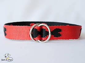 Нашийник-зашморг, червоно-чорний, 25мм