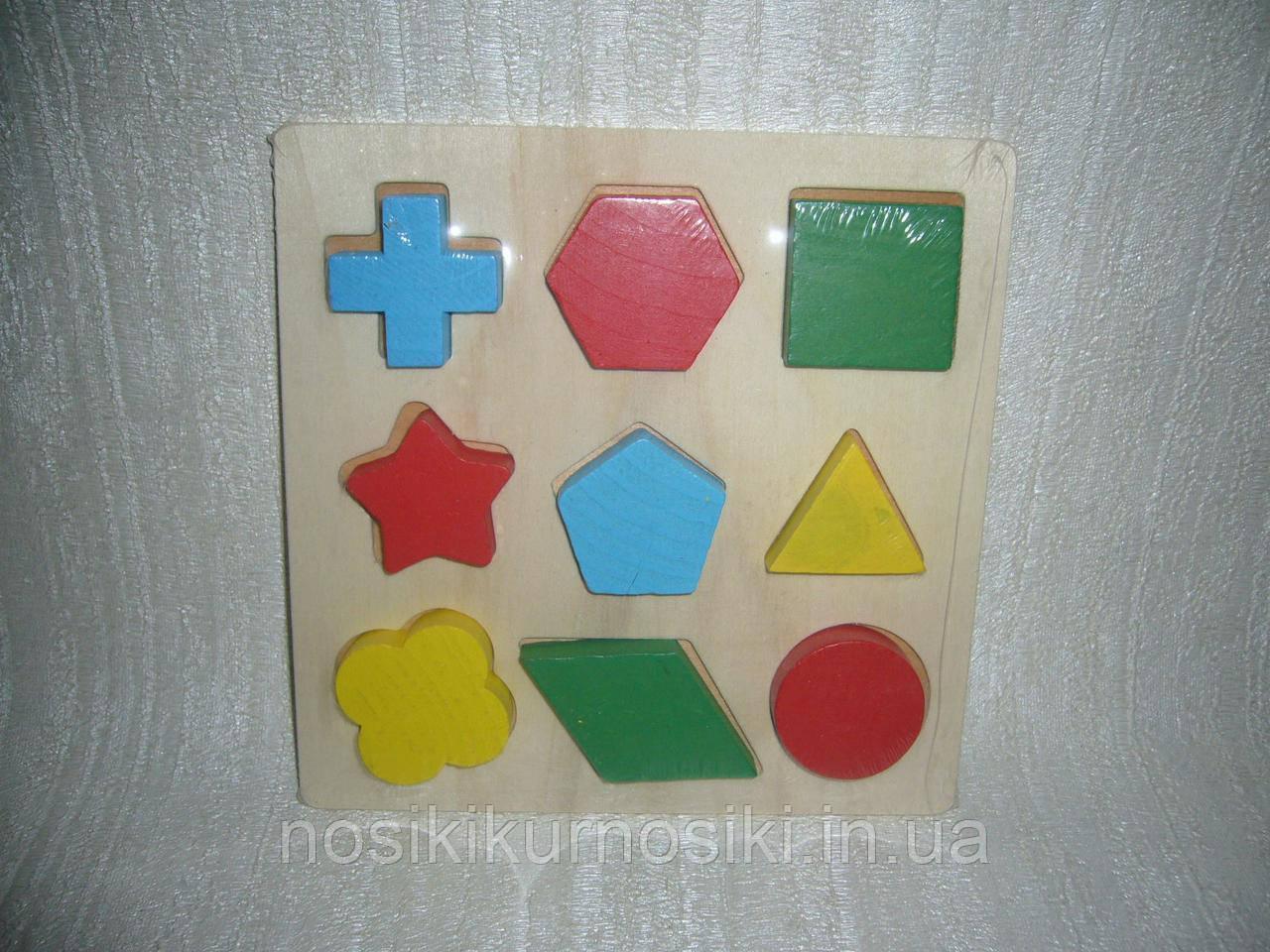 Деревянная игрушка Геометрика геометрические фигуры