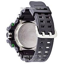 Электронные часы Casio G-Shock GW A1100 Black Green, спортивные часы Джи Шок(черно-зеленые), реплика, фото 2