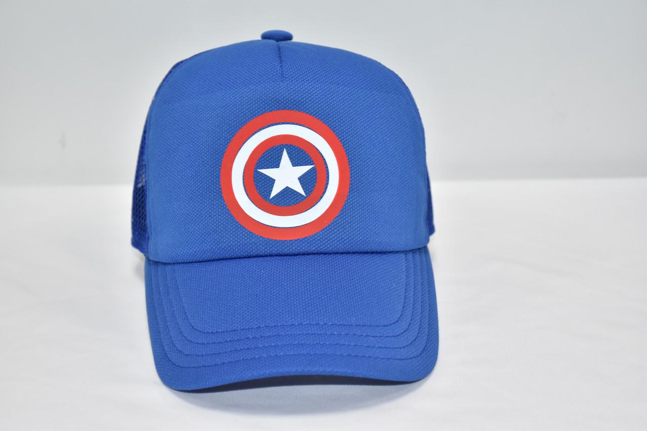 Кепка  синяя Капитан Америка