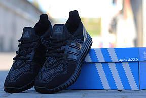 Кроссовки Adidas Ultra boost черные летние, сетка , фото 2
