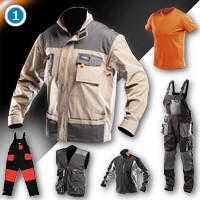 Брюки, куртки, жилеты, комбинезоны