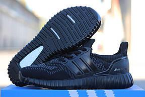 Мужские кроссовки летние Adidas Ultra boost,черные 41р, фото 3