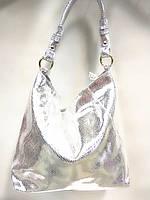 Сумка-мешок большая silver