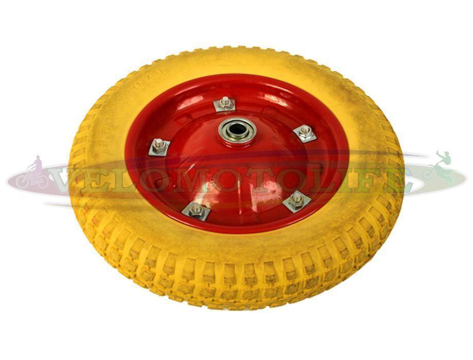 Колесо на садово-строительную тачку 3.50-8 пенополиуретановое (16мм)