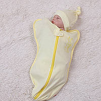 """Кокон для новорожденного """"BANNY""""(жёлтый)"""