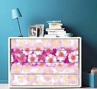 Наклейка на комод Розовые цветы
