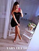 Женский атласный пеньюар с кружевом большого размера. Ткань: стрейс-атлас. Размер: 48-52.