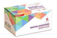 Набор красок акриловых матовых, пастельные цвета, 6 цветов по 20 мл, ROSA Start, 90747130