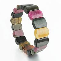 Турмалин разноцветный, браслет, 204БРТ