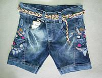 Детские джинсовые шорты для девочек 3-7 лет