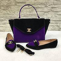 Черно-фиолетовый набор CHANEL