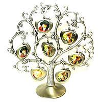Фоторамка семейное древо - Яблоки на 7 фото, незабываемый подарок