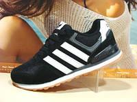 Женские кроссовки Adidas Neo черные 41 р.