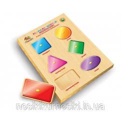 Деревянные игрушки рамки вкладыши Монтессори геометрические формы