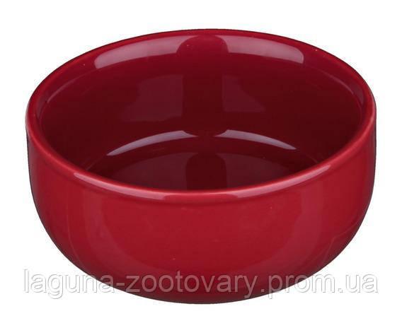 Глубокая керамическая миска для кошек  0.3л/11см, разные  цвета